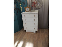 Vintage shabby chic chest of four drawers
