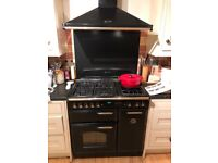 Range Cooker for sale - matching extractor and splash back
