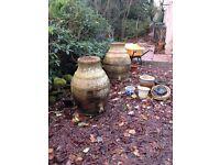 2 very large Alibaba Garden Urns