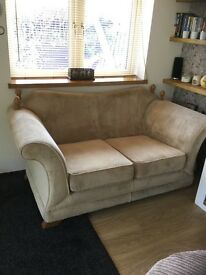 2 Comfy oatmeal two seater sofas