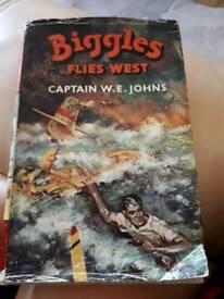 Biggles flies west book