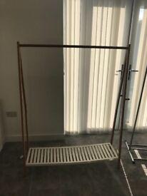 2 x clothes rails