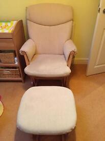 Rocking chair & stool (from John Lewis)