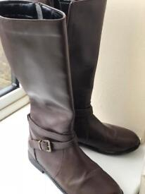 Next Brown leather boots