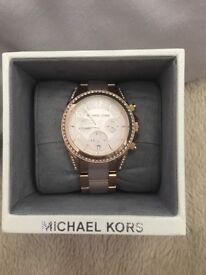 Micheal kors ladies rose gold watch