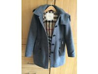 Burberry Gray wool coat , size 7 years old , hardly used, as good as new