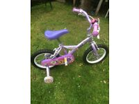 Girls Apollo Petal bicycle with stabilisers