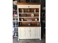 BARGAIN kitchen Dresser pine oak cream shelves storage cabinet hall console living dining room