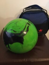 10lb tenpin bowling ball and bag