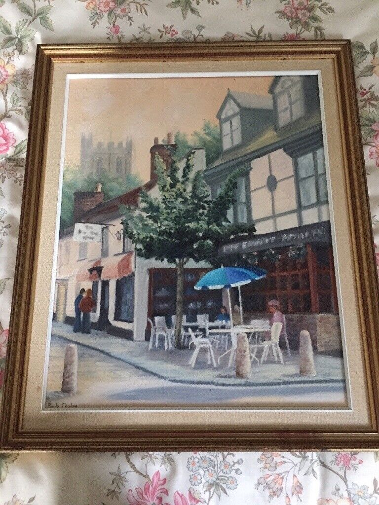Painting by Paula Couling. Christchurch High Street