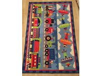 Kids rug planes trains and trucks