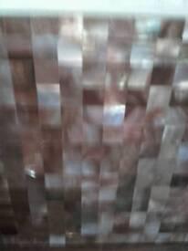 Mosaic metal splash back peachy long strips