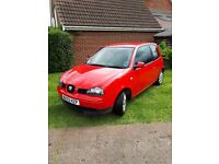 Red seat Arosa project first car