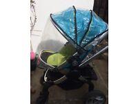 ICandy Peach Pushchair Pram & Stroller + Rain Covers