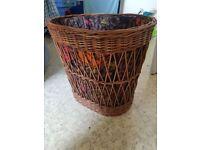 Retro vintage washing basket