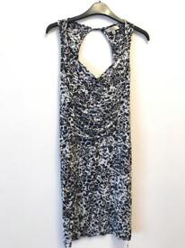 Leopard print casual party dress size S