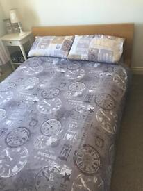 Ikea Malm Double Bed - Oak