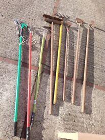 Garden Hand Tools - hoe rake brush high cutter edger