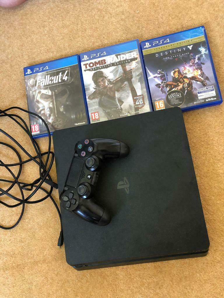 PS4 SLIM WITH 3 GAMES | in Bolton, Manchester | Gumtree