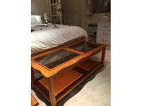 Teak coffee table and nest of tables