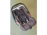 Infant Car Seat with Adjustable Harness, Carrying Handle and Rain Hood, Rear-Facing.