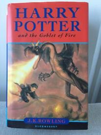 Signed first edition Harry Potter and the Goblet Of Fire