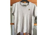 Boys Lyle & Scott tshirt age 12-13 grey