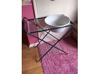 camping sink and dish drier folds flat good condition
