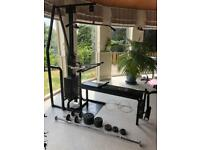 York Multi Gym with full set of weights