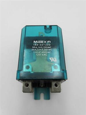 Midtex Relay 188-34t200 15a 600vac 120240