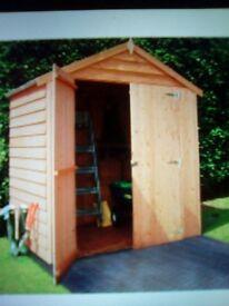 6x4 double door overlap shed