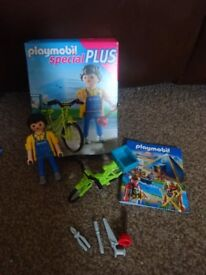 Playmobil Boxed As New Complete with Instructions Special Plus Handyman with Bike set 4791 Only £2