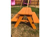 Children's Solid Wood Garden Bench