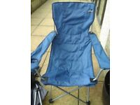 Vango, two garden telescopic garden chairs with arms and drinks holders with carry bags