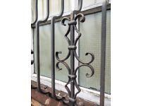 2 x heavy duty decorative window security grilles.