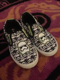 Brand new Boys slip on Star Wars shoes size 10