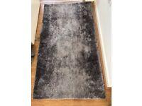Grey silver floor mat rug