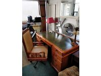 Pine desk and chair ,