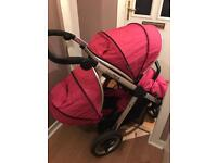 Oyster max 2 tandem buggy wow pink