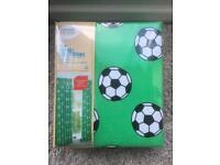 Brand new Tab Top Football Lined Curtains