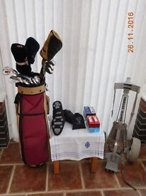 Quality Golf Clubs, Woods, Bag, Trolley, new shoes and more. Owner (me) stopping playing.