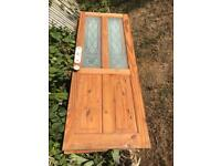Pine doors with glass panels