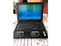 E-system black laptop