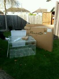 Large bird cage still in box