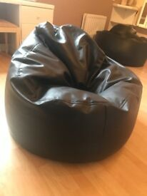 Leather beanbag chairs x 2 - £80