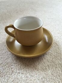 6 Denby Ode Cups and Saucers