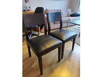 2 Faux Leather Dining Chairs! Great condition!