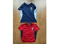 2 x England Rugby training tops age 7-8