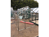 6 x 6' Greenhouse with Horticultural Glass, 2nd Hand, All Glass, Clips, Seal Included
