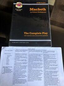 GCSE Macbeth revision pack